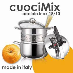 CuociMix set oala sub presiune 5lt+vas pentru paste