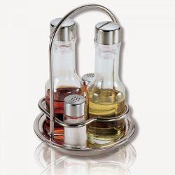 Oliviera 4 sticle, suport inox THEMA