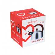 Ceainic cu fluier 2,2 l. LOVE STORY