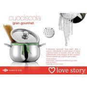 Oală paste cu capac strecurător Love Story 4,5 l